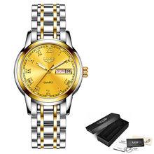 LIGE роскошные женские часы, женские водонепроницаемые часы с ремешком из розового золота и стали, женские наручные часы, Топ бренд, часы-брас...(China)