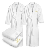 girls spa robes wholesale cheap absorbent custom cotton kimono robes and towels set