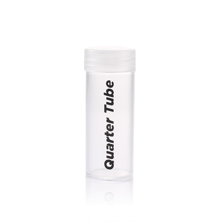 Custom case Transparent PET Coin Tube Plastic Coin Jar Packaging Saving Money Box