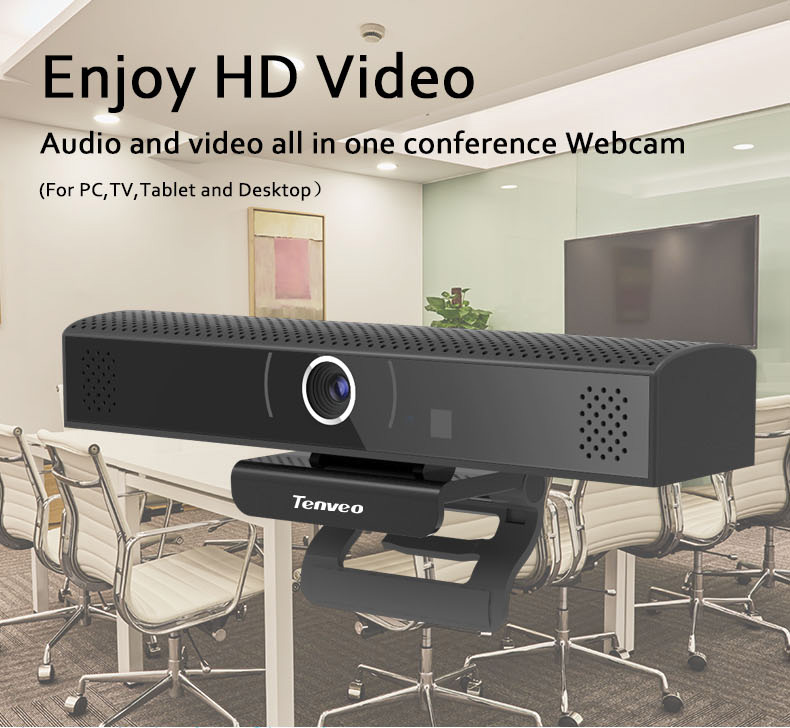TENVEO high quality all in one webcam video in webcams for conference room
