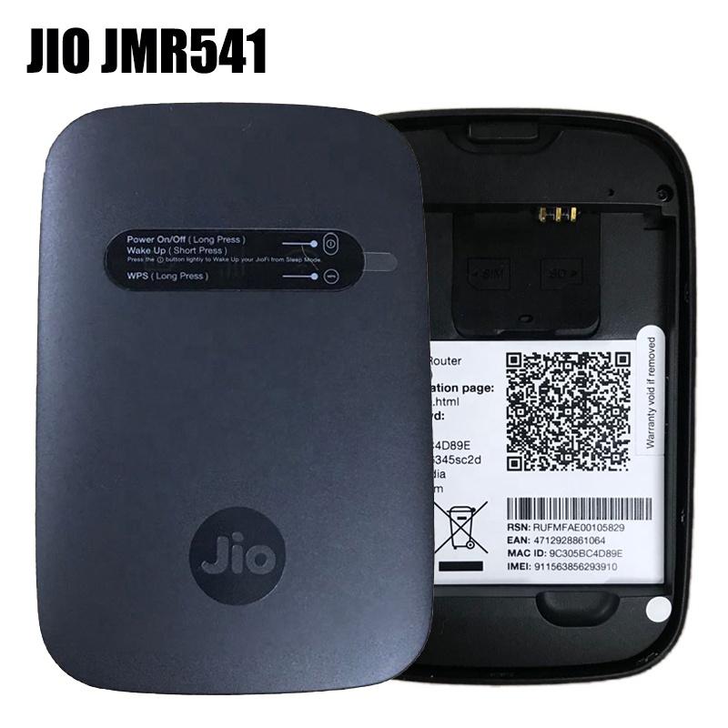 4G Hotspot Wi-fi Portabel Perangkat LTE Wifi Router Nirkabel Mifis Jiofi Jio JMR541 Dukungan B3/5/40