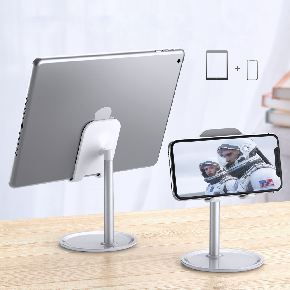 Free Shipping RAXFLY Universal Anti-Slip Desktop Adjustable Phone <strong>Holder</strong> For <strong>iPad</strong> Desk Aluminium Alloy Tablet <strong>Stand</strong>