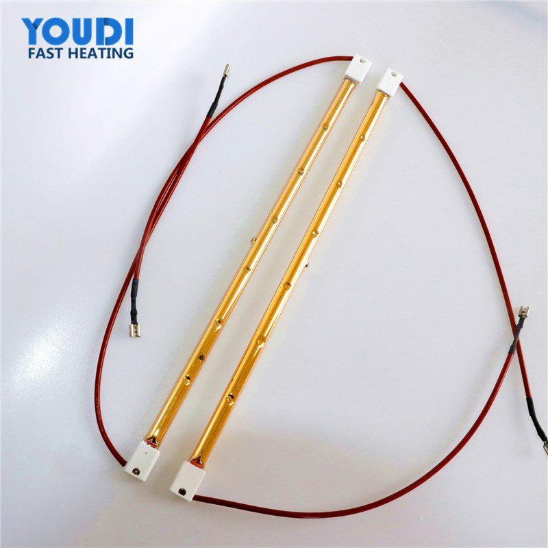 High Permance Tungsten Gold Coated infrared heating lamp,355mm shortwave infrared lamps for drying paint