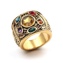 2019 винтажное индивидуальное Кристальное кольцо для мужчин, Союз Мстителей, 3 золотых кольца для wo мужчин, обручальное кольцо, мужские аксесс...(Китай)