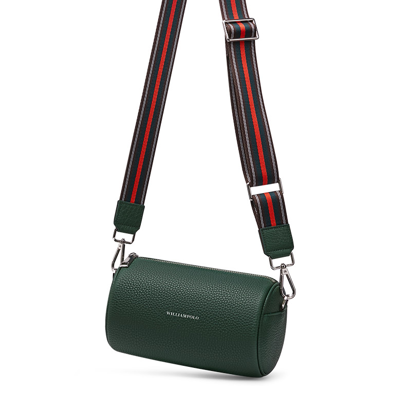 WILLIAMPOLO Bag 2020 New Fashion Retro Leather Shoulder Messenger Bag Female Cylinder Pillow Bag Small CK