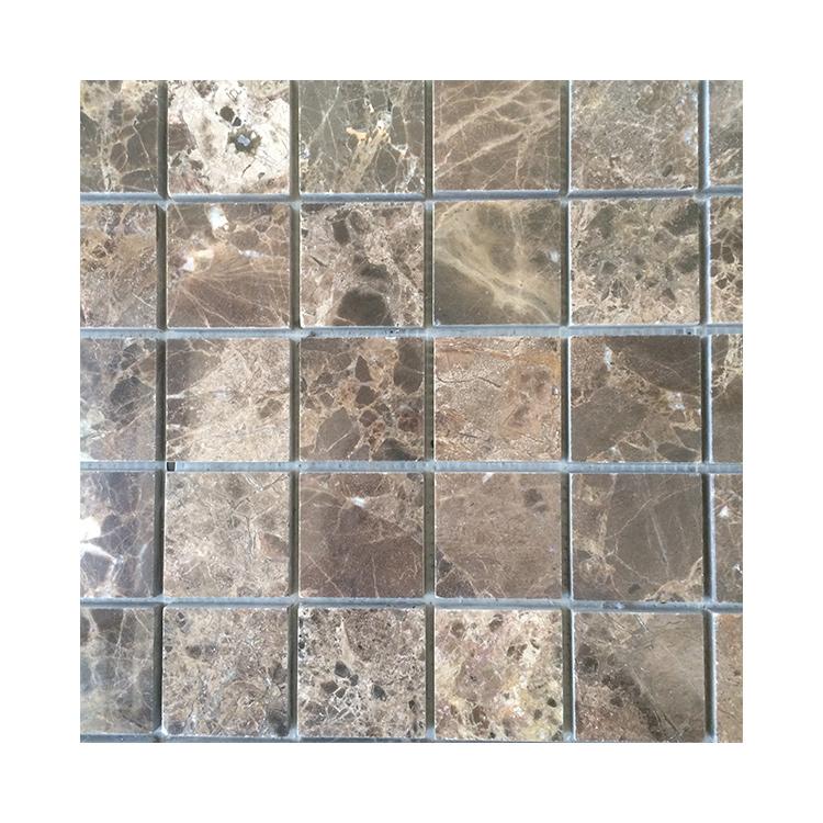 Venta al por mayor mosaico de azulejos de color marrón ...