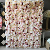 China Factory Customized Wedding Silk Rose Flower Wall Decorative Wholesale Artificial Flowers