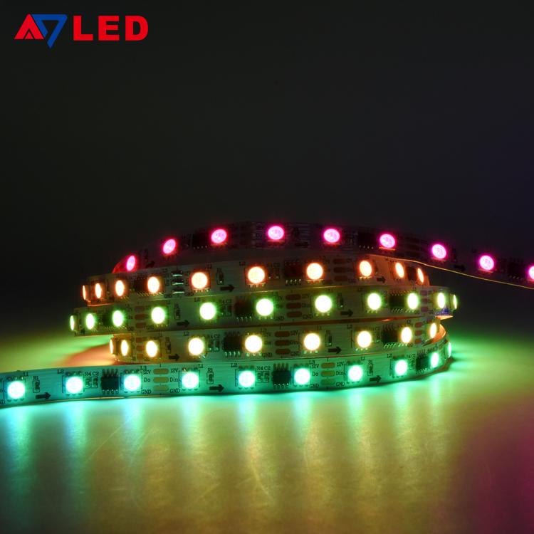 Cinta LED RGB Smart LED Light Strip Wifi 5050 60leds WS2811 IC Colour Changing Addressable Digital LED Strip RGB