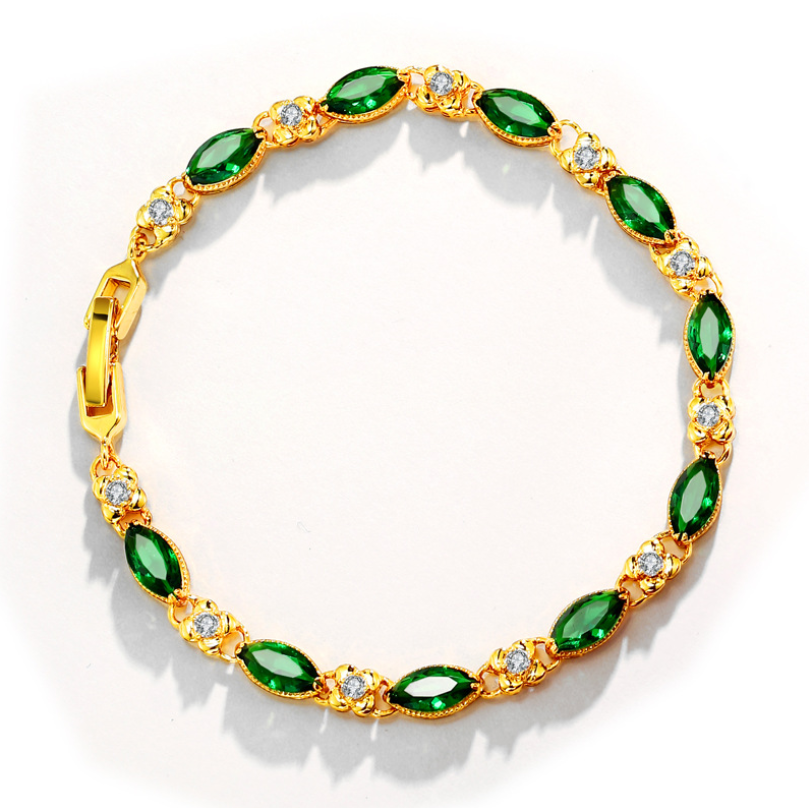 Wholesale cheap fashion simple round Gold-plated bracelets for women jewelry