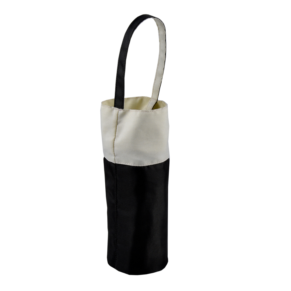 Dongguan Portable single wine bottle carrier Nylon wine bag with handle