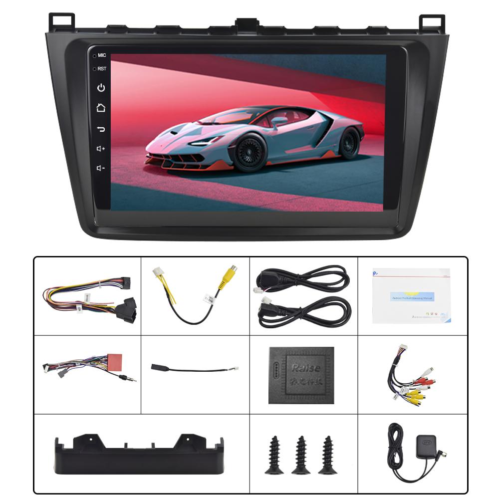 Podofo 9 ''Android 9.1 2Din 1 + 16G HD Gương Xe GPS Đài Phát Thanh Máy Nghe Nhạc GPS Stereo Đa Phương Tiện Máy Nghe Nhạc âm Thanh WIFI Player Cho Mazda 6