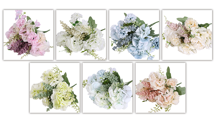 2019 New product artificial flowers blue green for office indoor decoration