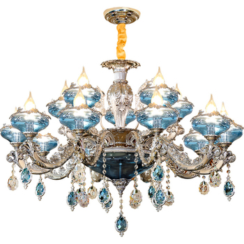 Hot selling promotional crystal chandelier gold for wedding event luxury beautiful k9 crystal lamp European crystal lamp