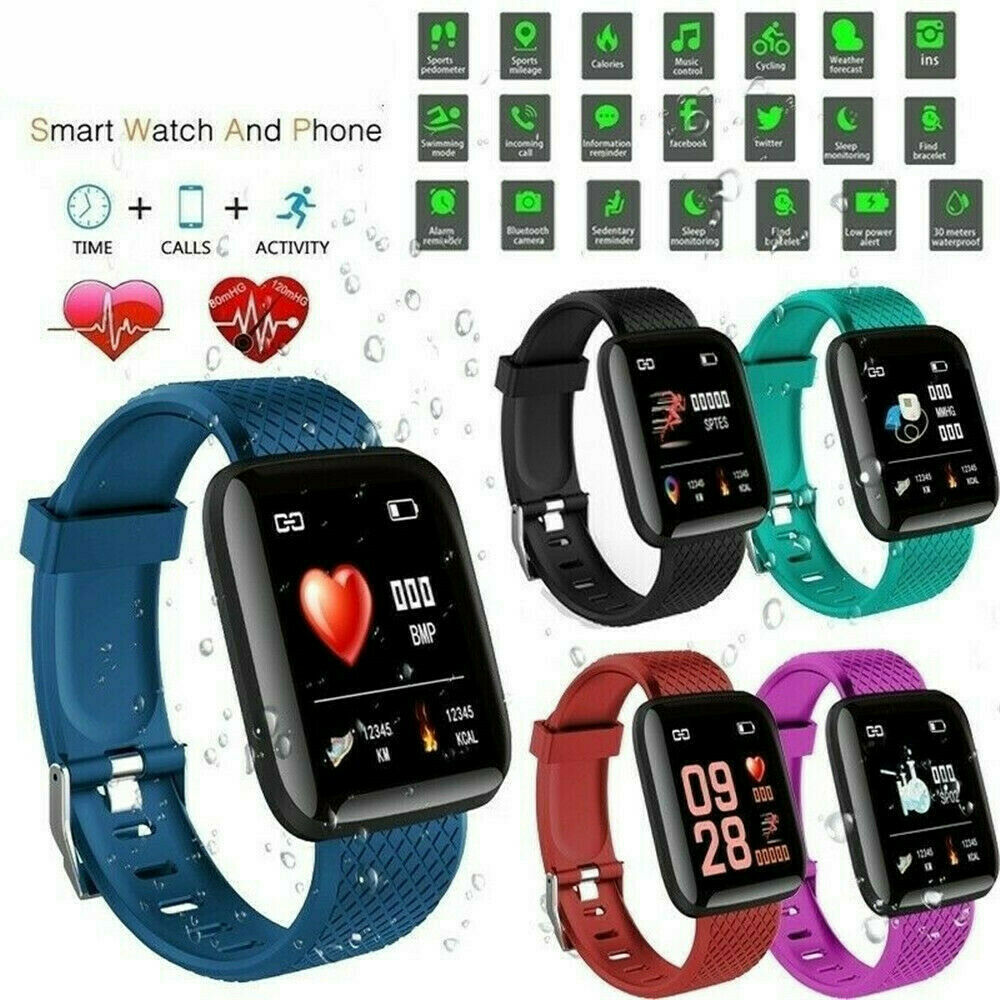 D13 Smart Watches 116 Plus Heart Rate 116Plus Watch 116plus Wristband Sports Watches Smart Band Waterproof Smartwatch Android