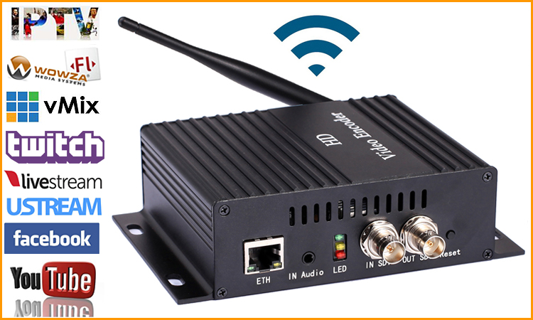 URay H.264 SD HD 3G SDI To IP SRT Encoder HD-SDI Video Streaming Encoder IPTV Live Encoder For Youtube Facebook Wowza Via RTMP