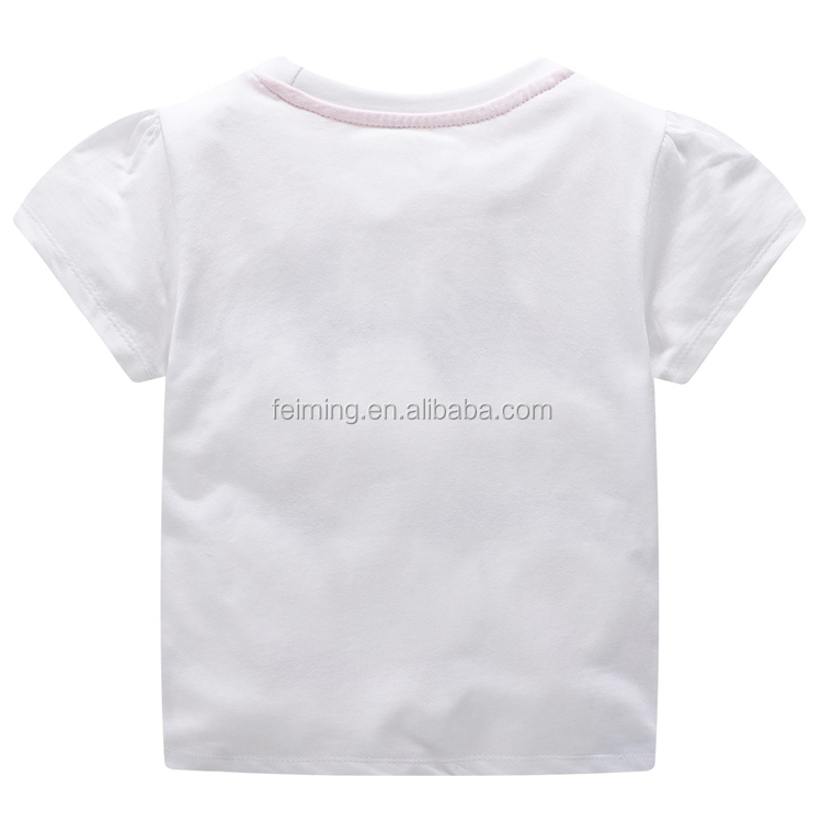 Summer Child Top T Shirt Casual Toddle Soft Cotton Girls T-shirt