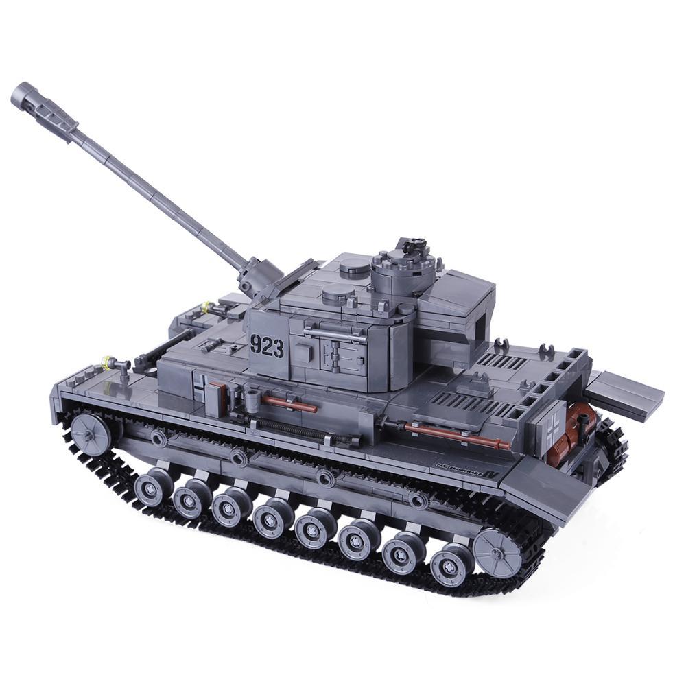 Children DIY Building Block Bricks German Armored Tank Model Military Vehicle Kit for Legoings