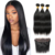Vast quality guarantee vendors original no tangling straight closure,100% natural original no nits straight hair with closure