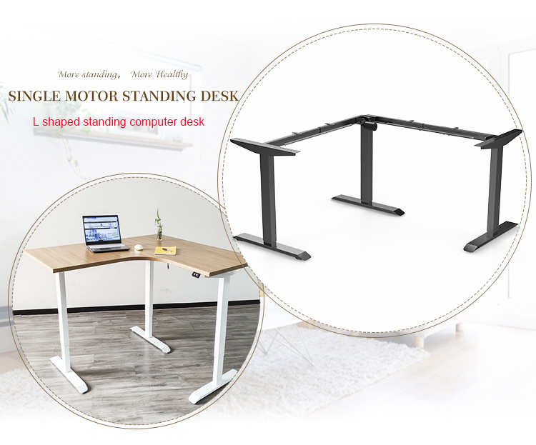 Electric Adjustable Stand Up Desk Automatic Height Adjustable Computer Desk