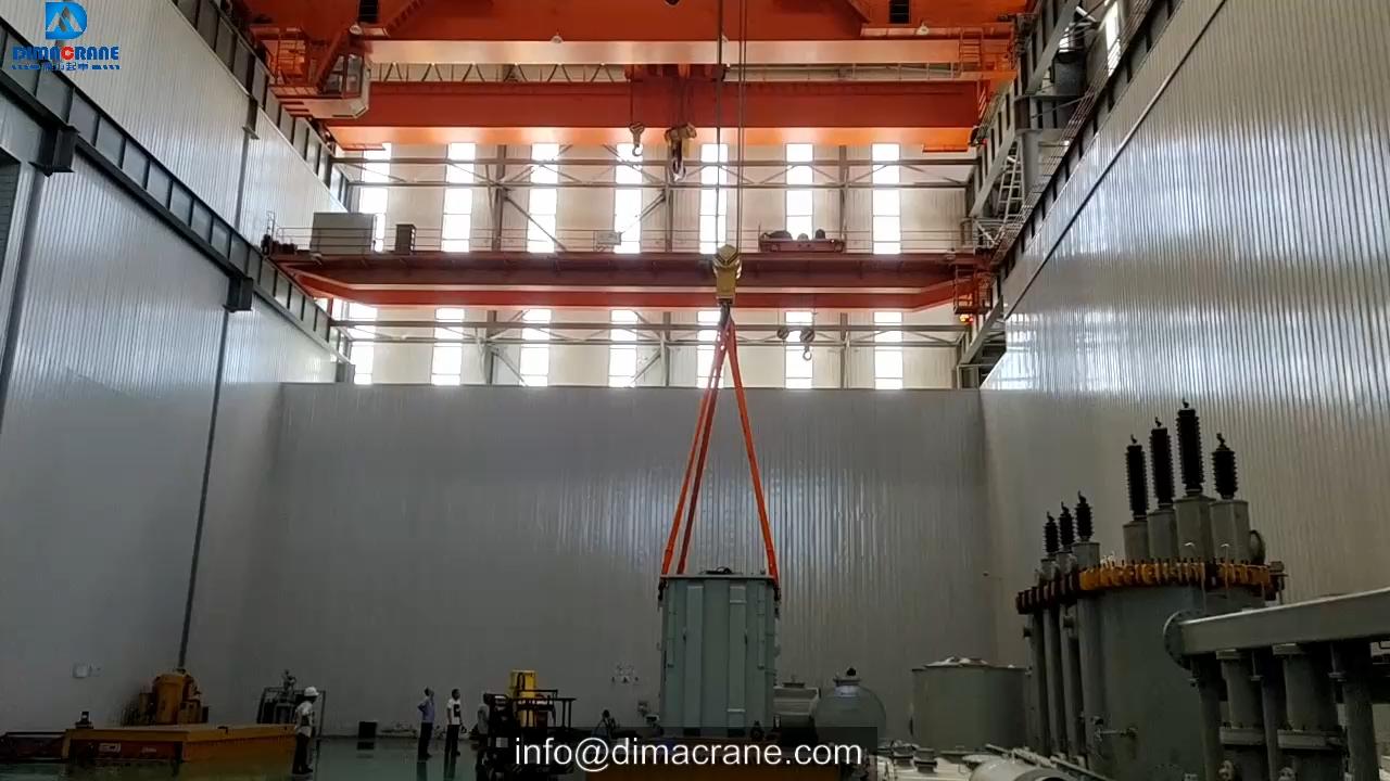 160 / 50 Ton 150T Europa Stijl Dubbele Ligger Beam Elektrische Overhead Reizen Eot Brug Kraan Prijs in Power Plant