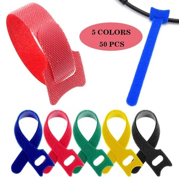 Adjustable Nylon Hook and Loop Cable Tie Strap