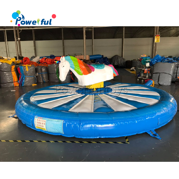Popular sport game inflatable unicorn riding machine