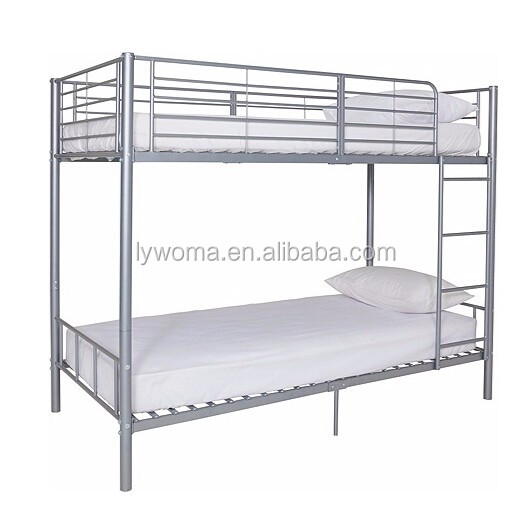 Wholesale strong detachable army metal double bunk <strong>bed</strong> black single dormitory iron <strong>bed</strong> metal <strong>bed</strong>