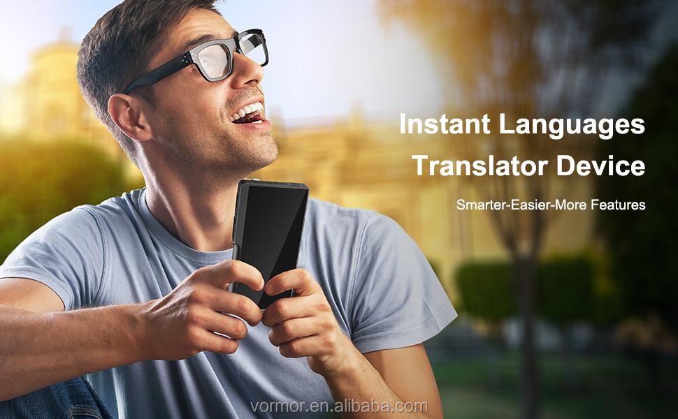 Okul için eğitim ekipmanları T6 2.4 ''çocuk akıllı dil öğrenme makinesi taşınabilir anlık sesli çevirmen