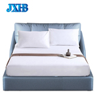 Luxury Cotton Satin Drill King and Queen 4 Piece Bed Sheet Set Fitted Bed Sheet