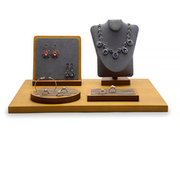 solid wood jewelry table top display sets for Pendant, necklace,ear bobs, jewels, ring,earrings, jewelry, ear studs