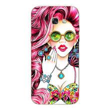 """Coque для Samsung Galaxy A5 2017 A520 чехол 5,2 """"Цветочные растения единорог Печать задняя крышка Фламинго Мягкий силиконовый чехол для телефона(Китай)"""