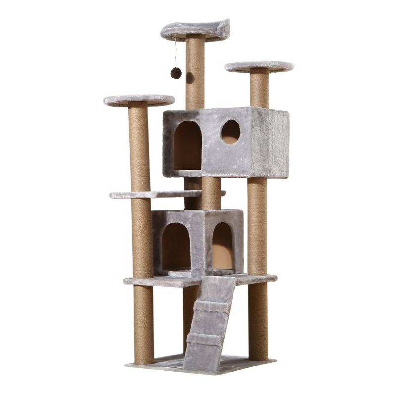 Large Stylish Multi-Level Play House Climb Activity Center Tower Stand <strong>Product</strong> Cat Tree