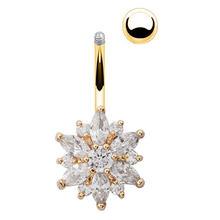 L. Зеркало 1 шт. кольца для живота Имитация кристаллов горный хрусталь пирсинг ювелирные изделия штанги(Китай)