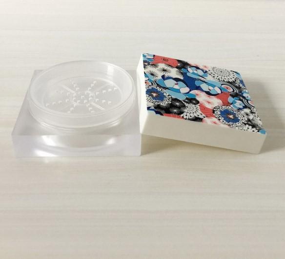 15g 50g Cosmetici PS/ABS di Plastica In Polvere Sciolto Casi Classic Piazza Polvere Casi