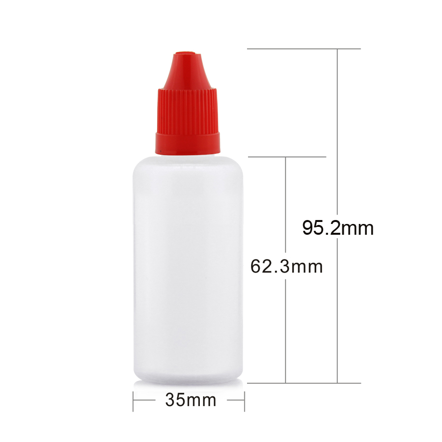50ML soft PE  plastic smoke oil dropper bottle with Childproof Cap