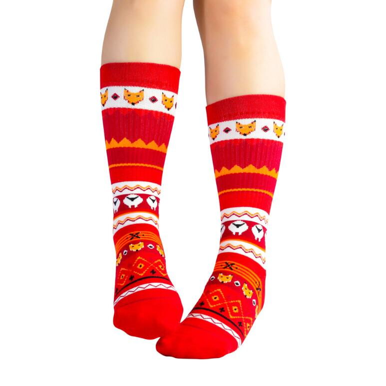 Super Thicker Women's calf socks custom logo  cotton compression sports socks terry wool ski socks
