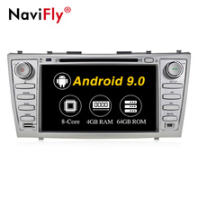 NaviFly 8 ''Android 9.0 Octa núcleo de vídeo do carro Para Toyota camry 2007-2010 car audio system 4 + 64GB IPS <span class=keywords><strong>BT</strong></span> WIFI GPS FM DSP