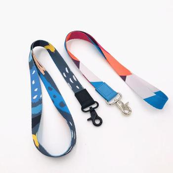 Lanyard ID card keychain holder with colorful custom print