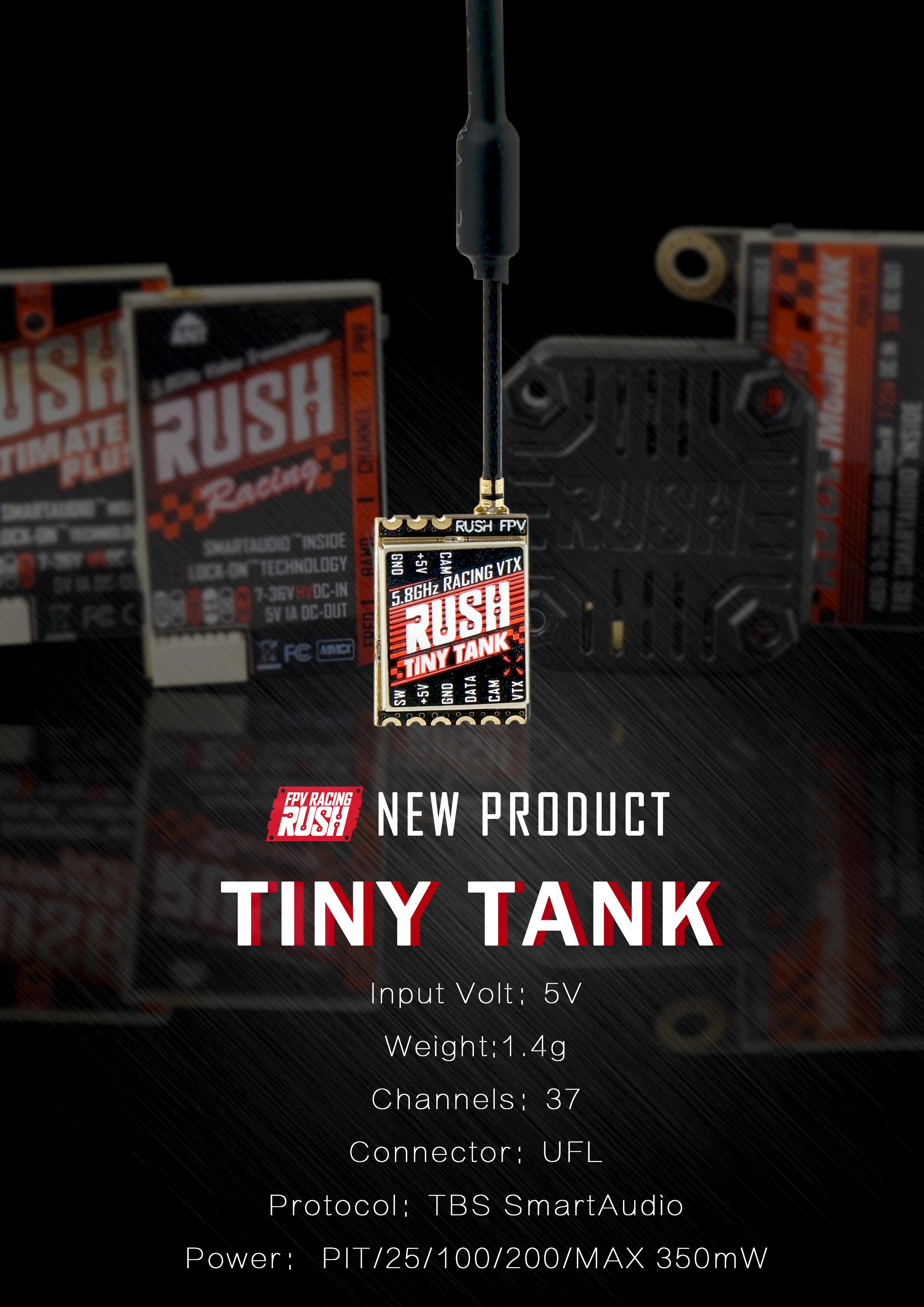 RUSH TANK TINY VTX 5.8G Smart Audio 0-25-100-200-350mW US VERSION
