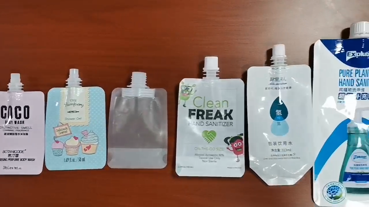 oem customized small capacity liquid stand up spout pouch with spout plastic bags for yogurt jelly juice  butter milk sour milk
