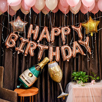 Happy Birthday Balloons Banner Inflatable Party Decor and Ballon Birthday for Kids and Adults