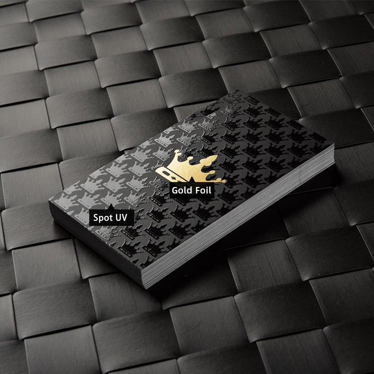 nice quality thick custom foiled printing spot uv embossed business cards