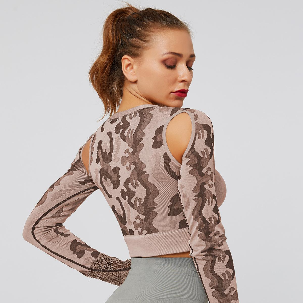 Camo Design Long Sleeves Top 7