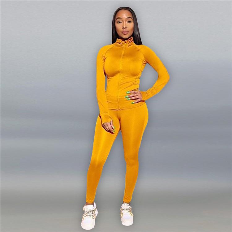 D94395 fall women clothing 2020 two piece set women clothing sports wear set