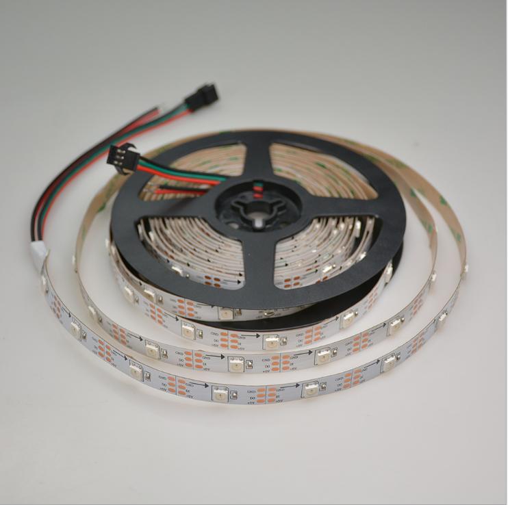 60Lamp bead DC12V/5V RGB WS2812 Led Strip Light