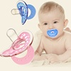 Wholesale eco-friendly colors safty soft liquid silicone baby toys nipple pacifier