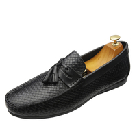 2020 new Men Slip-on Moccasin Driving Shoes casual black shoe Classic handmade top quality Italian leather driving shoes men