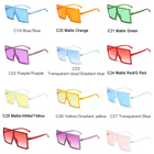 Flat top square sun glasses 2020 new arrivals retro fashion gradient shades custom designer luxury sunglasses women men 87029
