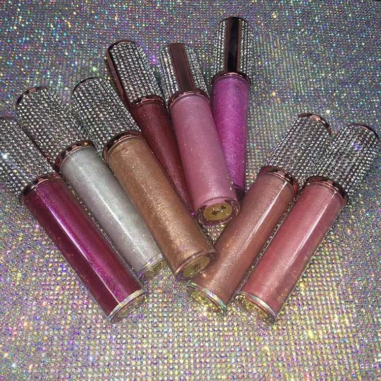 high glitter shiny lip gloss private label use your own brand products