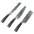 Newest 3-pc Knife Set Kitchen Japanese Knife With Wood Handle